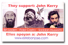 Bin Laden, Fidel Castro and Saddam Hussein support John Kerry