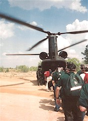 Boarding the Chinook