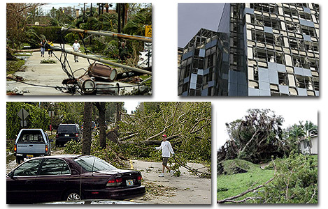 Hurricane Wilma damage to Fort Lauderdale