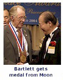 Bartlett gets Moonie medal