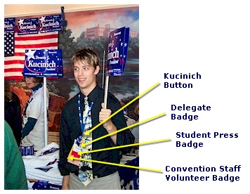 Kucinich volunteer Storm