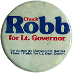 Chuck Robb for Lt Governor - 1977